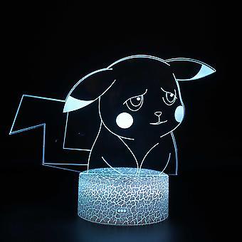 Lampes 3D avec télécommande, lampe LED 16 Color Light Dimmable Touch Switch USB / Battery Insert, Cadeau de Noël décoration d'anniversaire pour bébé enfant teen woman man-pokemon#837