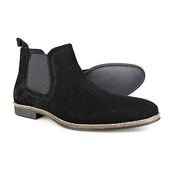 Red Tape Stockwood Black Suede Classic Chelsea Boots