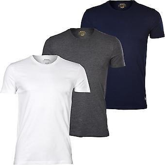 Polo Ralph Lauren 3-Pack Polo Player Crew-Neck T-Shirts, Navy/White/Charcoal