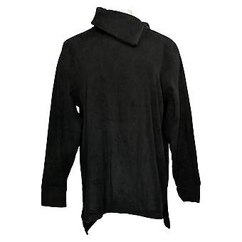 Cuddl Duds Women's Fleecewear Pullover Tunic Top Black A381712