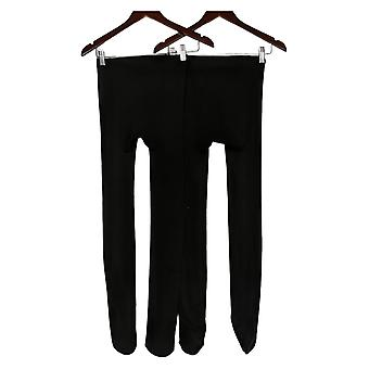 Legacy Plush Cozy Fleece Lined Tights Set of 2 Black C A389607