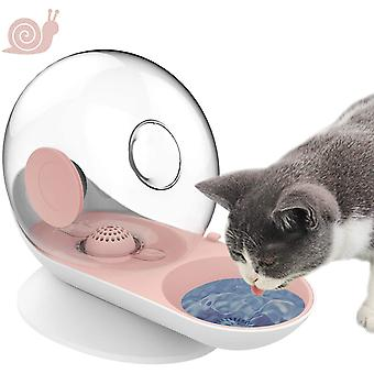 Cat Dog Water Dispenser, Snail Shape Foutains With Non-rust Spring