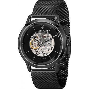 Maserati R8823133004 Men's Ricordo Automatic Black Mesh Wristwatch