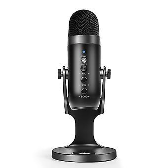 Multifunctional usb condenser microphone for computers, gaming, streaming and podcasting featuring mic stand, pop filter