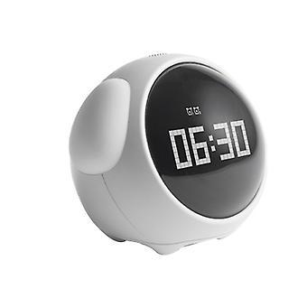 שעון מעורר אמוג'י, שעון מעורר אלקטרוני, מנורת לילה ליד מיטת הסטודנטים, שעון ילדים חכם