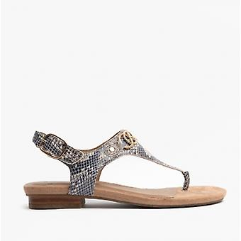 Earth Spirit Mendy Ladies Leather Toe Post Sandals Taupe