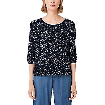 s.Oliver 04.899.39.5385 T-skjorte, Blå (Navy AOP 59b0), 40 (Produsent Størrelse: 34) Kvinne