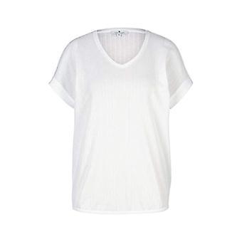 Tom Tailor 1025274 Structuur T-Shirt, 10315-Whisper White, M Vrouw