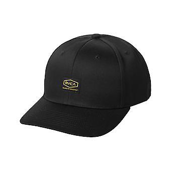 RVCA Dayshift Snapback Cap in Black
