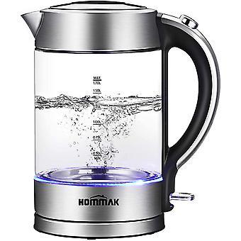 FengChun iKich beleuchtetes Glas elektrische Wasserkocher, 1.7L Eco Wasserkessel mit Auto Shut-Off Kochen-Dry