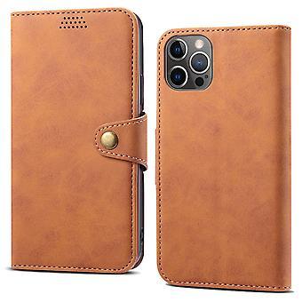 Lommebok skinnveske kortspor for iPhone 12 mini 5.4 brun no4851