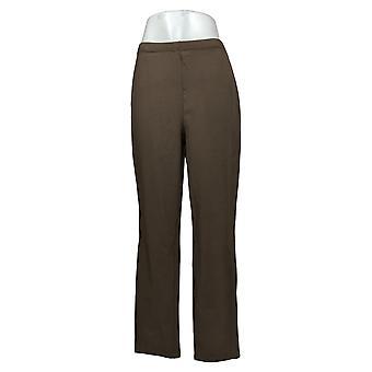 Kobiety z control shapewear Tushy Lifter Slim Leg Pants Brown A310956