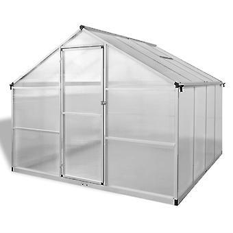 vidaXL Versterkte kas aluminium 6,05 m²