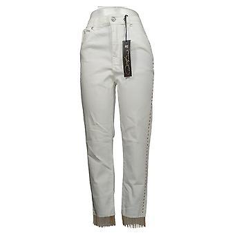DG2 af Diane Gilman Kvinders Jeans Reg Pyntet Stripe White 710624