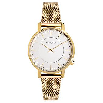 KOMONO Gold mesh - reloj unisex