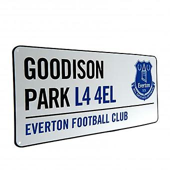 Letrero de la calle Everton FC