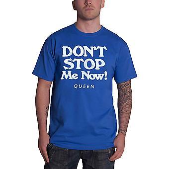 Queen T Shirt Dont Stop Me Now Band Logo new Official Mens Aqua Blue