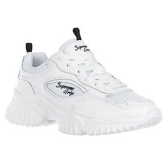 Suprema agarre mujeres zapatillas blancas
