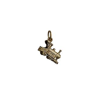9ct Gold 15x6mm Train Pendant or Charm