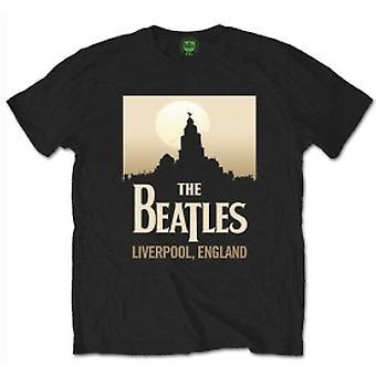 The Beatles Liverpool Engeland heren Blk Tshirt: Medium