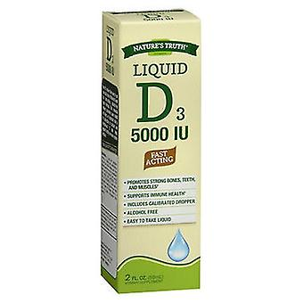 Nature's Truth Nature'S Truth D3 Fast Acting Vitamin Liquid, 5000 IU, 2 Oz