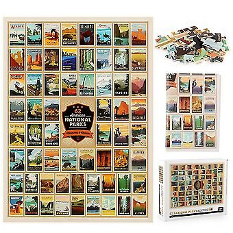 62 National park logo jigsaw puzzle ,1000 pcs educational decompression puzzle,wall decoration az13213