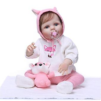 48Cm genfødt premie bebe dukke genfødt baby fuld krop blød silikone naturtro baby dukke bad legetøj anatomisk korrekt julegave