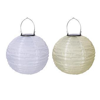 10En impermeable led luz solar tela linterna china lámpara colgante decoración vacaciones fiesta fiesta luces decoración