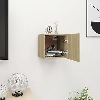vidaXL TV armoire de télévision sonoma-chêne 30,5x30x30 cm