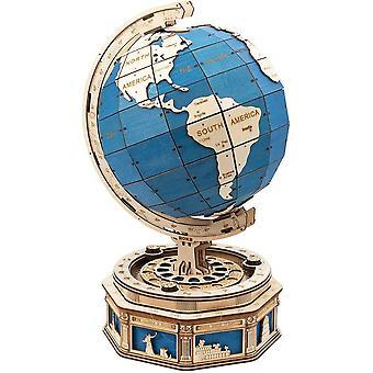 3D Holz Puzzle Globus Modellbausätze 567 PCS Selbstmontierende mit Secret Locker Home Decorationn