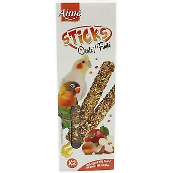 Loves 2 Baguettes With Fruits And Eggs - For Big Parakeets - 115 G