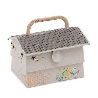 Sewing Box, Bee Hive Design, 19 x 29 x 19cm