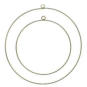 Gold Metal Hanging Decoration Hoops for Wedding or Event Decoration - 20cm & 28cm