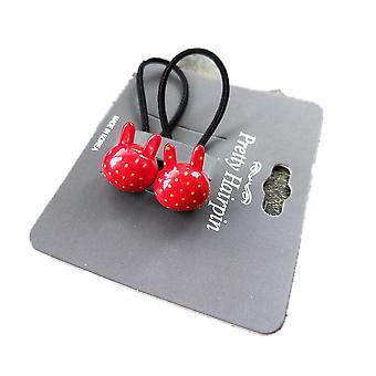 7SET 2PCS / SET New Drăguț Rabbit Wave Point Printesa Headwear Kids Elastic Hair Bands copii frânghii
