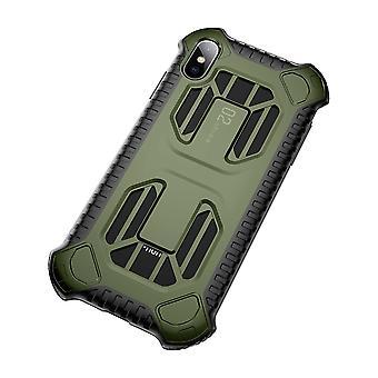 Rüstung Schutzhülle für iPhone XS Stoßfeste Wärmeableitung Rückseite Abdeckung GRÜNE FARBE