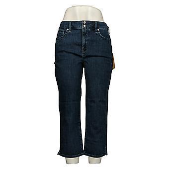 NYDJ Women's Jeans Cool Embrace Skinny Crop w/ Side Slits Blue A377693