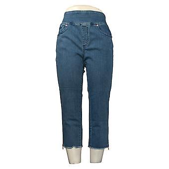 Belle By Kim Gravel Women's Jeans Smart Comfort Cropped Blue A350503
