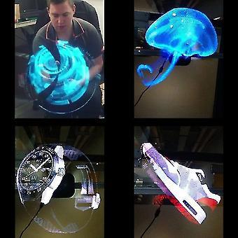 Tragbarer Hologramm-Player 3D-Holographischer Dispaly-Lüfter Einzigartiger Hologramm-Projektor