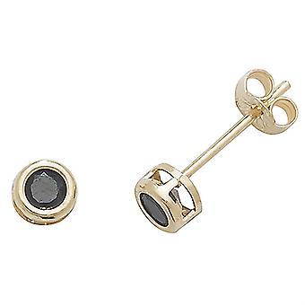 HS Johnson HSJ-ES425BS Women's 9ct Gold Sapphire Stud Earrings