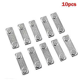 10pcs Strong Magnetic Name Tags Badge Metal Fastener Id Card Durable Attachment Holder