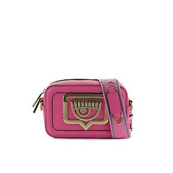 Chiara Ferragni Eyelike Metal Fuchsia Crossbody Bag