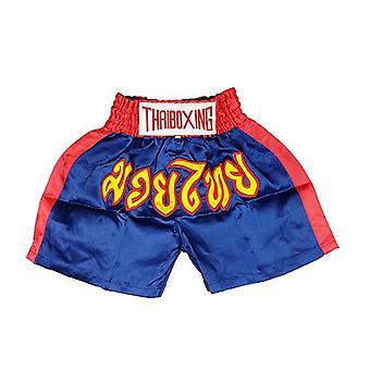 Adults Boxing Pants Satin Navy Medium