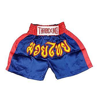 Adults Boxing Pants Satin Navy Xl