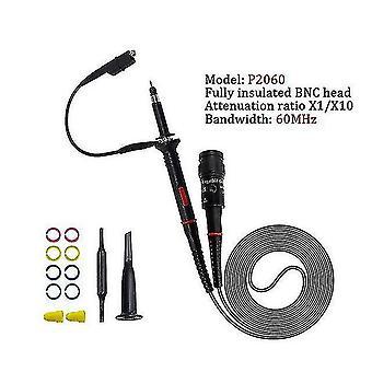 Metal detectors 1set high quality p6100 oscilloscope probe dc-6mhz dc-100mhz scope clip probe free shipping p2060