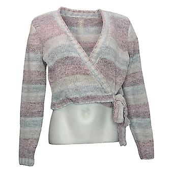 WVVY by Fitty Britttty Women's Sweater Rainbow Wrap Purple 729667