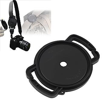Camera Lens Cap Holder Buckle Safety Keeper Anti-lost For 72mm 77mm 82mm