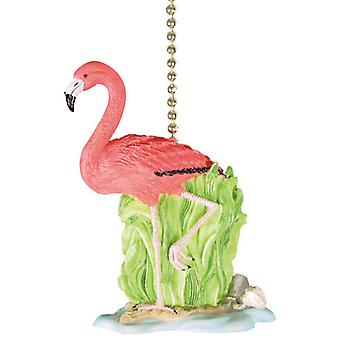 Tropical Pink Flamingo Tiki Decor Ceiling Fan or Light Pull