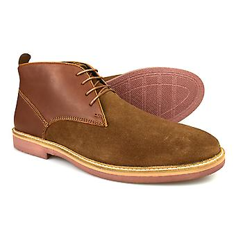 Silver Street Denmark Tan Leather & Suede Desert boots