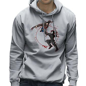 Blood Equinox Wolverine Vs Edward Scissorhands Men's Hooded Sweatshirt