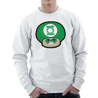 Super Mario sopp Green Lantern menns Sweatshirt
